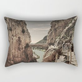 """The most dangerous trail in the world II"". El Caminito del Rey  Rectangular Pillow"