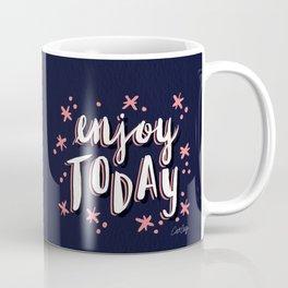 Enjoy Today – Navy & Pink Coffee Mug