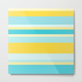 Summer Stripes I Metal Print