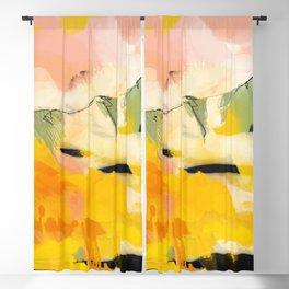 landscape abtract - paysage jaune Blackout Curtain