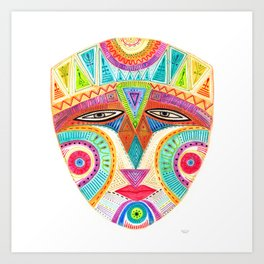 let's fly and reach the sky mask Art Print