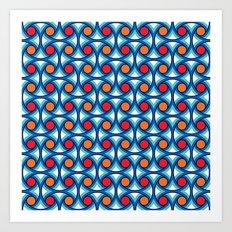 Geometric Pattern #169 (1977) Art Print