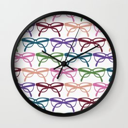 Optometrist Eye Glasses Pattern Print Wall Clock
