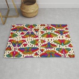 Rainbow Moth Print Rug