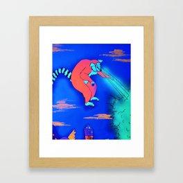Leapin' Lemur! Framed Art Print