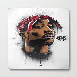 Tupac's Potrait Metal Print