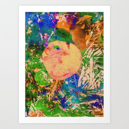 Mushrooms and Mulch Abstract Art Print