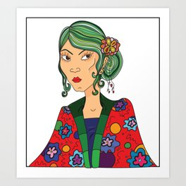Kim Mono Art Print