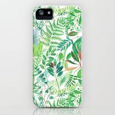 greenery watercolor pattern iPhone SE Slim Case
