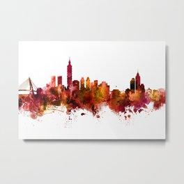 Taipei Taiwan Skyline Metal Print