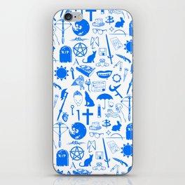 Buffy Symbology, Blue iPhone Skin