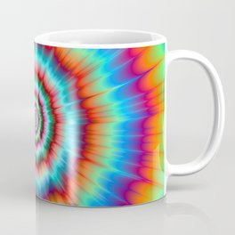 Explosion in Blue and Orange Coffee Mug