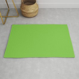 Bright High Viz Green Yellow Solid Color Parable to Pantone Jasmine Green 15-0545 Rug