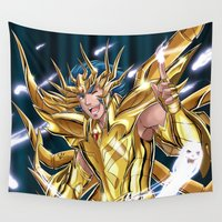 cancer Wall Tapestries featuring Cancer Deathmask by Studio Kawaii