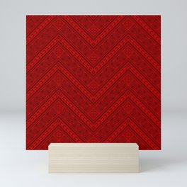 Tipi's (Red) Mini Art Print
