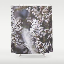 The Smallest White Flowers 01 Shower Curtain