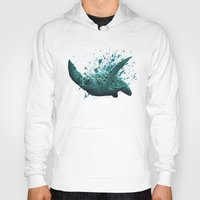 """biology Hoodies featuring """"Eclipse"""" - Green Sea Turtle, Acrylic by Amber Marine"""