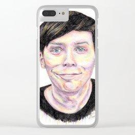 Multi-coloured AmazingPhil Clear iPhone Case