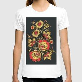 Golden russian folk T-shirt
