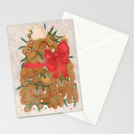 Merry Christmas from Gingerbread Men Stationery Cards
