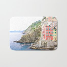Colorful Cinque Terre, Italy, View of Riomaggiore Bath Mat