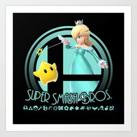 smash bros Art Prints featuring Rosalina - Super Smash Bros. by Donkey Inferno
