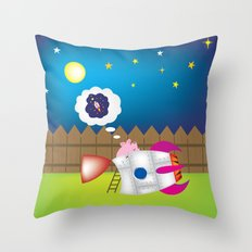 rocket pig part 1 Throw Pillow