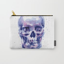 Skull Watercolor Purple Colorful Carry-All Pouch