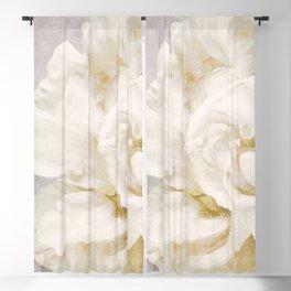 Petals Impasto Alabaster Blackout Curtain