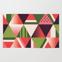 watermelon Area & Throw Rugs featuring watermelon by Gray