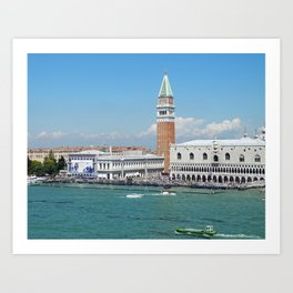 Venice entrance form the sea Art Print