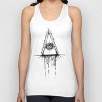 all seeing eye Tank Tops featuring All Seeing Eye  by Emalee Røse