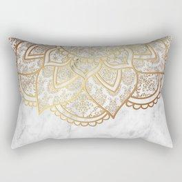 Mandala - Gold & Marble Rectangular Pillow