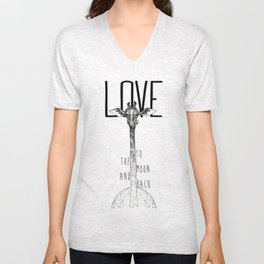 LOVE TO THE MOON AND BACK Unisex V-Neck