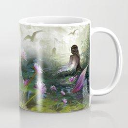 Little mermaid - Lonley siren watching kissing couple Coffee Mug