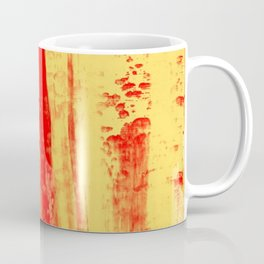 Gerhard Richter Inspired Abstract Urban Rain 3 Coffee Mug