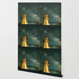 Mountain Light House Wallpaper