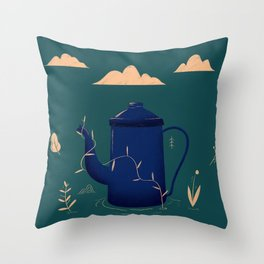 Resgate - Bule Throw Pillow