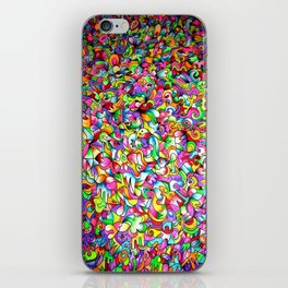 Abstract multicoloured pattern iPhone Skin