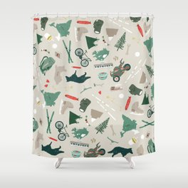 Outdoorsy and crafty Shower Curtain