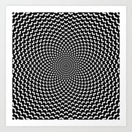 Illusion of Choice Hypnotic Pattern Art Print