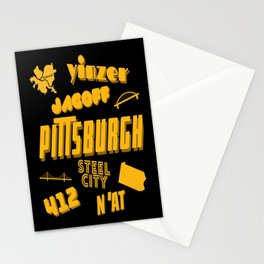 Pittsburgh Yinzer Jagoff Steel City 412 Retro Funny Gifts Stationery Cards