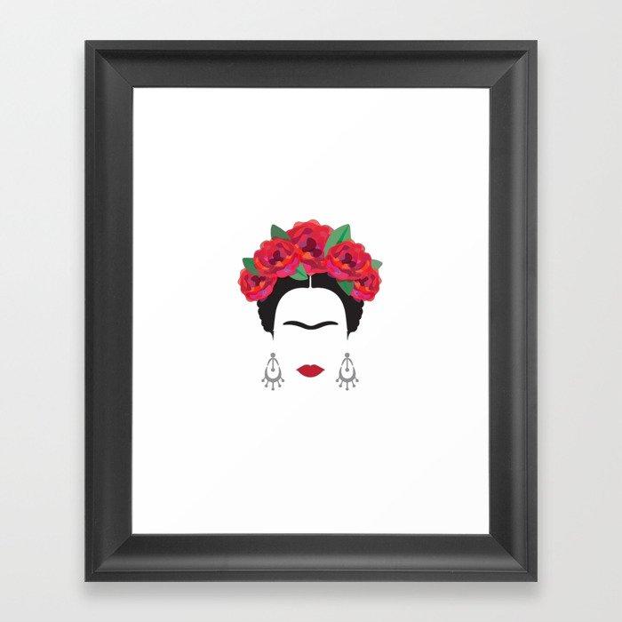Frida Gerahmter Kunstdruck