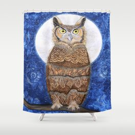 PAISLEY MOON Shower Curtain