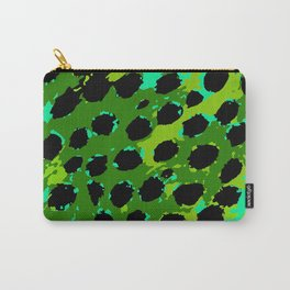 Cheetah Spots in Green and Blue Carry-All Pouch