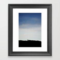 Couple Silhouette Framed Art Print