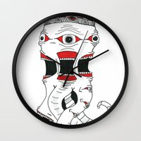 lost in translation Wall Clocks featuring Lost In Translation by JaydenR