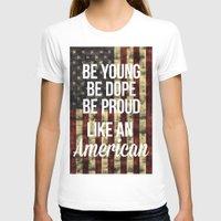 american flag T-shirts featuring American by Karolis Butenas