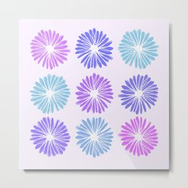 Playful Flowers Cool Metal Print