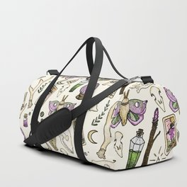 WITCH pattern • in bone Duffle Bag